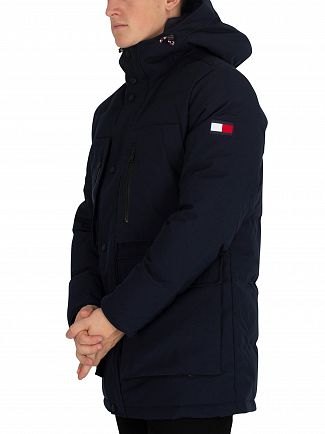 Tommy Hilfiger Sky Captain Heavy Canvas Down Parka Jacket