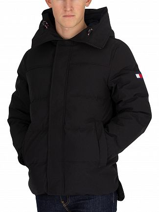 Tommy Hilfiger Jet Black Heavy Canvas Down Parka Jacket