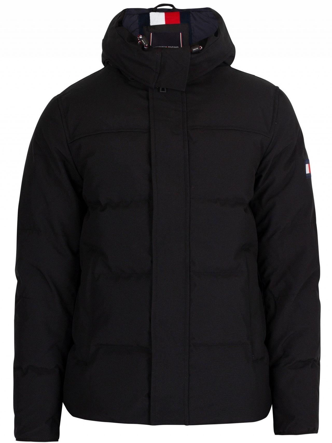 3fe50ec378fa2 Tommy Hilfiger Jet Black Heavy Canvas Down Parka Jacket