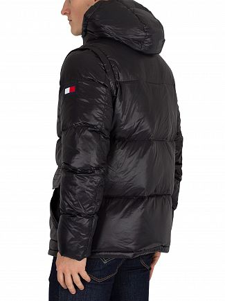 Tommy Hilfiger Jet Black Hooded Bomber Jacket