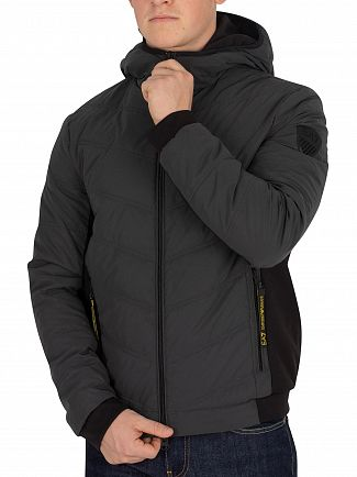 EA7 Anthracite Black Bomber Jacket