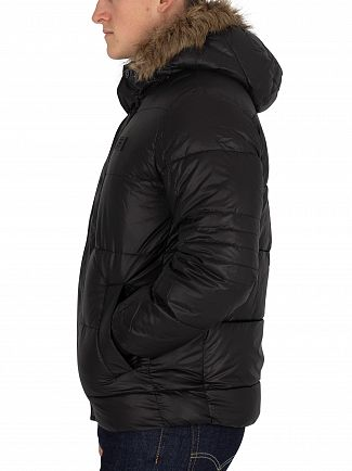 Jack & Jones Black Ernst Puffer Jacket