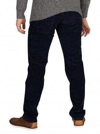 Lois Jeans Navy Blue Sierra Thin Corduroy Trousers