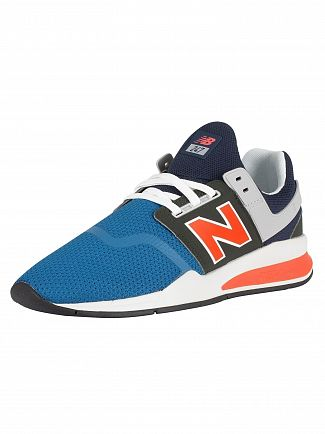 New Balance Light Blue/Flame 247 Knit Trainers