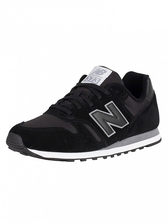 New Balance Black 373 Suede Trainers