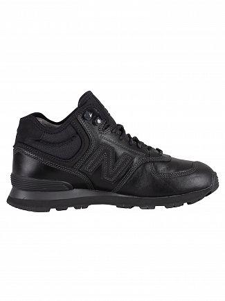 New Balance Black 574 Leather Boots
