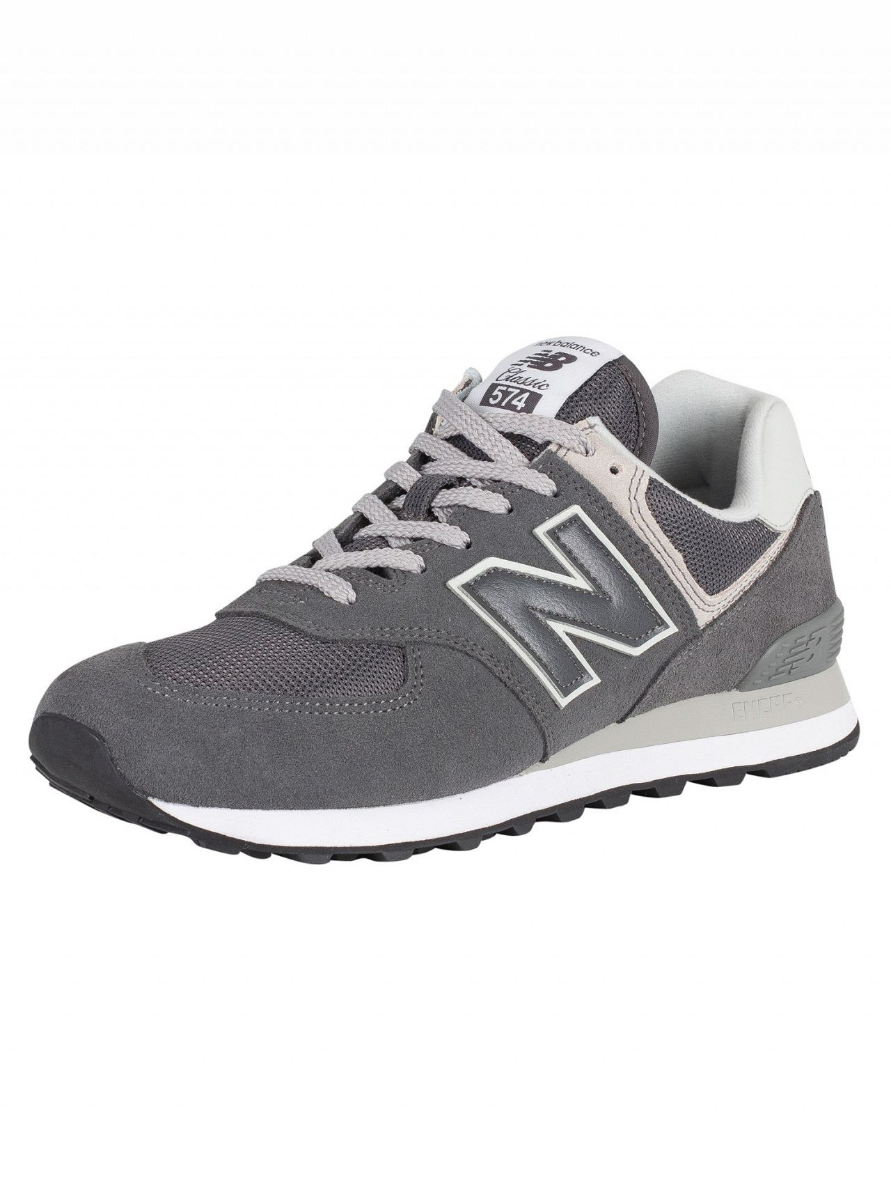 best service a5fa5 bdeb1 New Balance Grey 574 Suede Trainers