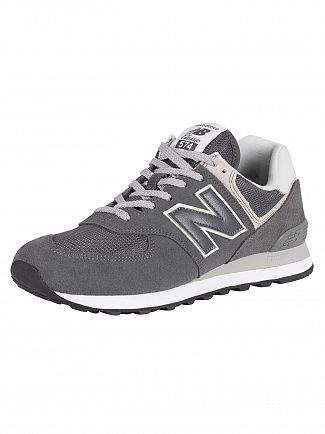 New Balance Grey 574 Suede Trainers