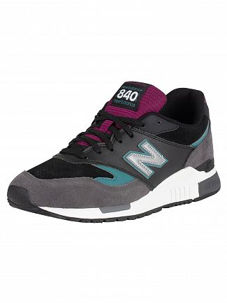New Balance Grey/Black/Green/Purple 840 90's Mix Trainers