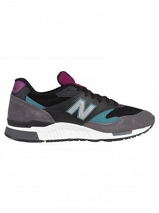 New Balance Grey/Black/Green/Purple 840 90's Mix Trainers