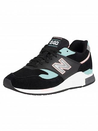 New Balance Black/Green/Pink 840 90's Mix Trainers