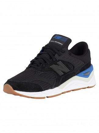 New Balance Black/Blue X-90 Trainers