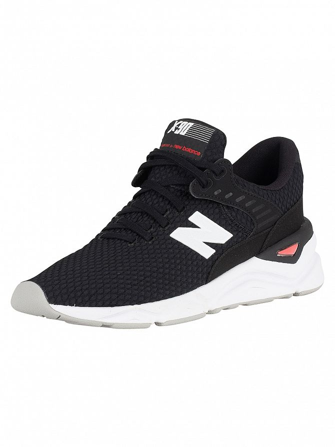 New Balance Black/White X-90 Trainers