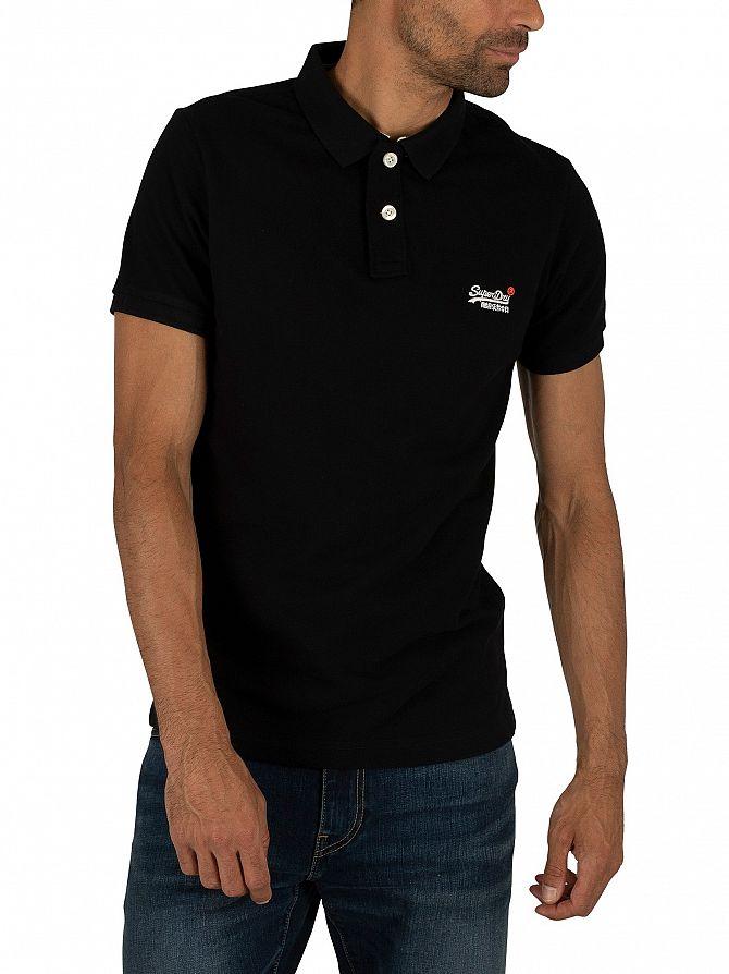 Superdry Black Classic Pique Polo Shirt
