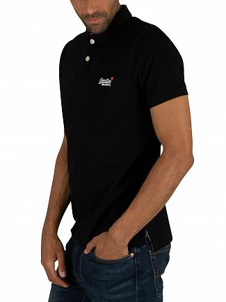 Superdry Black Classic Pique Polo Shirt