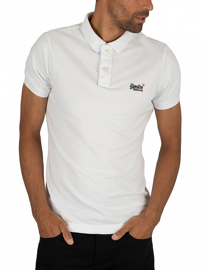 Superdry Optic White Classic Pique Polo Shirt