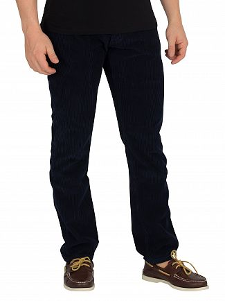 Lois Jeans Navy Blue Terrace Jumbo Cord Trousers