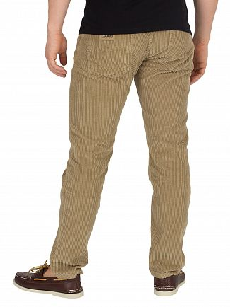 Lois Jeans Dark Sand Terrace Jumbo Cord Trousers