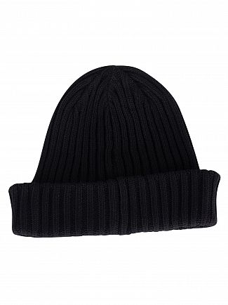 Levi's Regular Black Ribbed Beanie