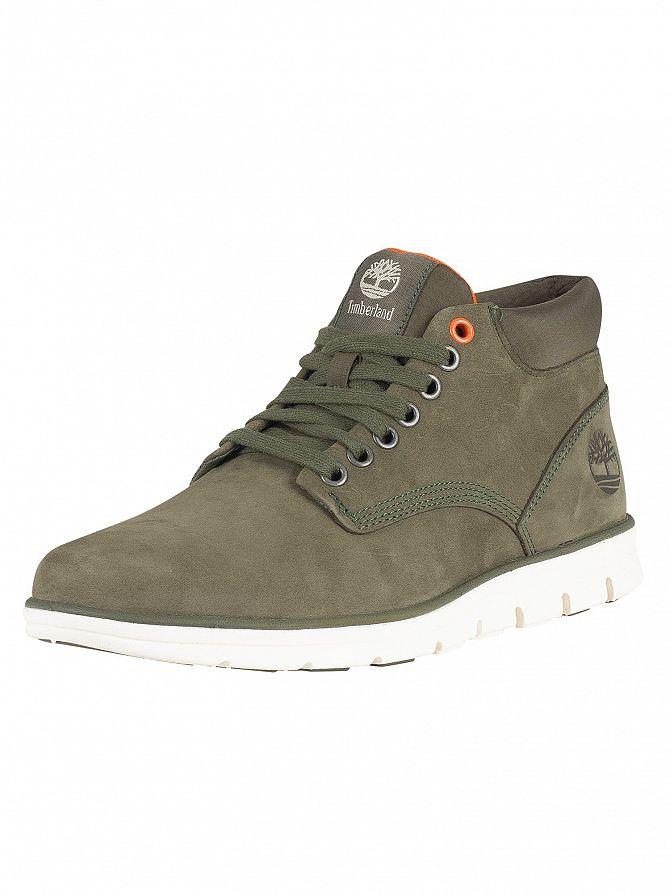 Timberland Dark Green Nubuck Bradstreet Chukka Leather Boots