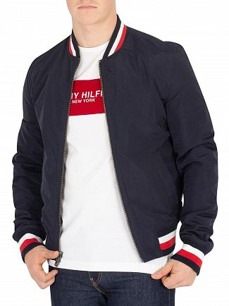Tommy Hilfiger Jet Black Reversible Lightweight Leather Jacket