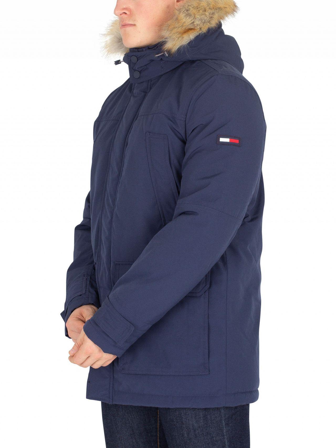 eaf25c4a Tommy Jeans Black Iris Technical Parka Jacket   Standout