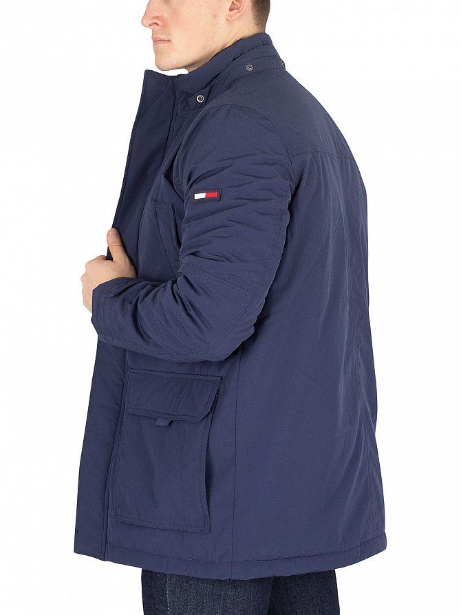 b8e29086 Tommy Jeans Men's Technical Parka Jacket, Blue   eBay