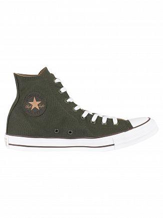 Converse Utility Green/Teak/White CT All Star Hi Trainers