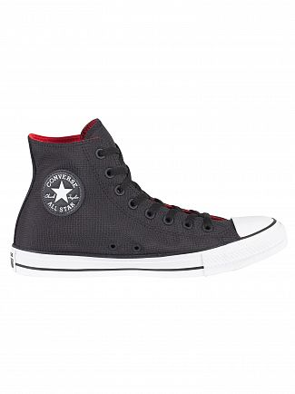 Converse Black/Enamel Red/White CT All Star Hi Trainers