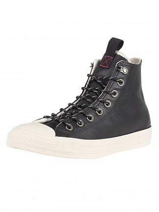Converse Black/Driftwood CT All Star Leather Trainers
