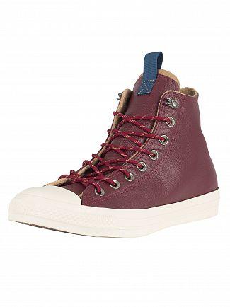 Converse Dark Burgundy/Teak/Driftwood CT All Star Leather Trainers