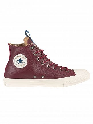 Converse Dark Burgundy/Teak/Driftwood CT All Star Leather Trainers