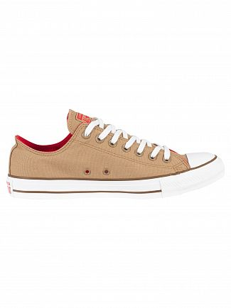 Converse Teak/Cherry Red/Chestnut Brown CT All Star OX Trainers