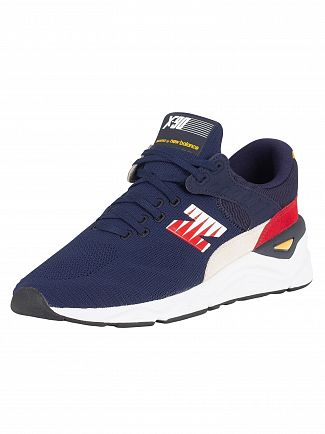 New Balance Navy/Red/White X-90 Trainers