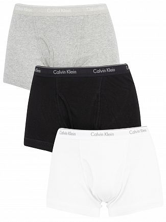 Calvin Klein Black/White/Grey Heather 3 Pack Classic Fit Trunks