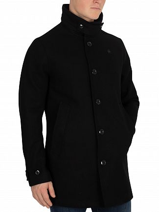 G-Star Dark Black Garber Empral Wool Trench Coat
