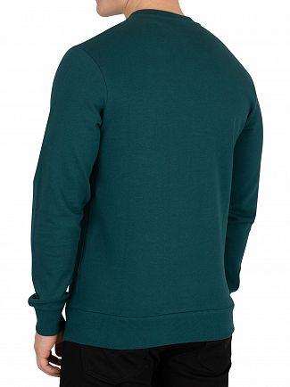 Jack & Jones Deep Teal Green Kritter Xmas Sweatshirt
