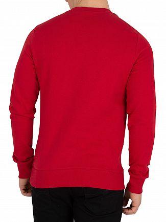 Jack & Jones Scarlet Sage Red Kritter Xmas Sweatshirt