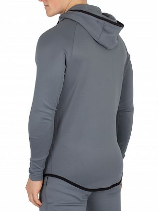 Sik Silk Aqua Grey Athlete Zip Through Hoodie