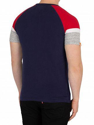 Superdry Beach Navy Baseball T-Shirt