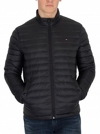 Tommy Hilfiger Jet Black Core Lightweight Packable Down Jacket