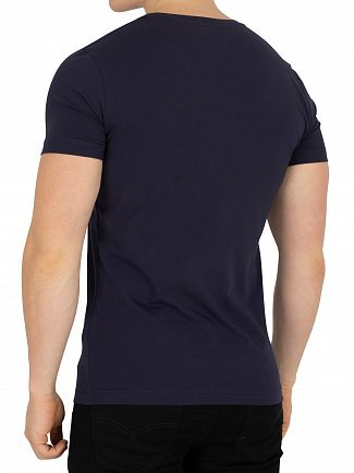 Tommy Hilfiger Navy Blazer Core Stretch Slim V-Neck T-Shirt