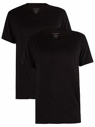 Calvin Klein Black/Black 2 Pack Cotton T-Shirts