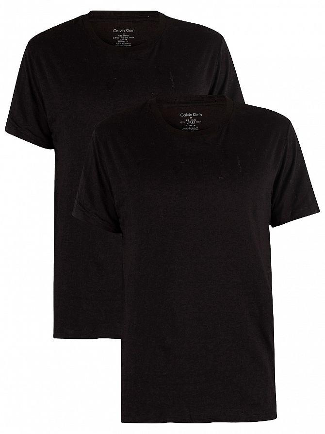 Calvin Klein Black/Black 2 Pack Cotton T-Shirts