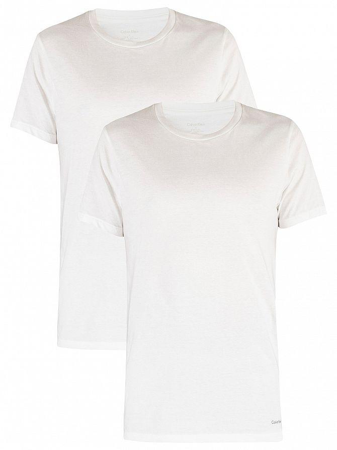 Calvin Klein White/White 2 Pack Cotton T-Shirts