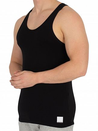 Calvin Klein Black/Black 2 Pack ID Vests