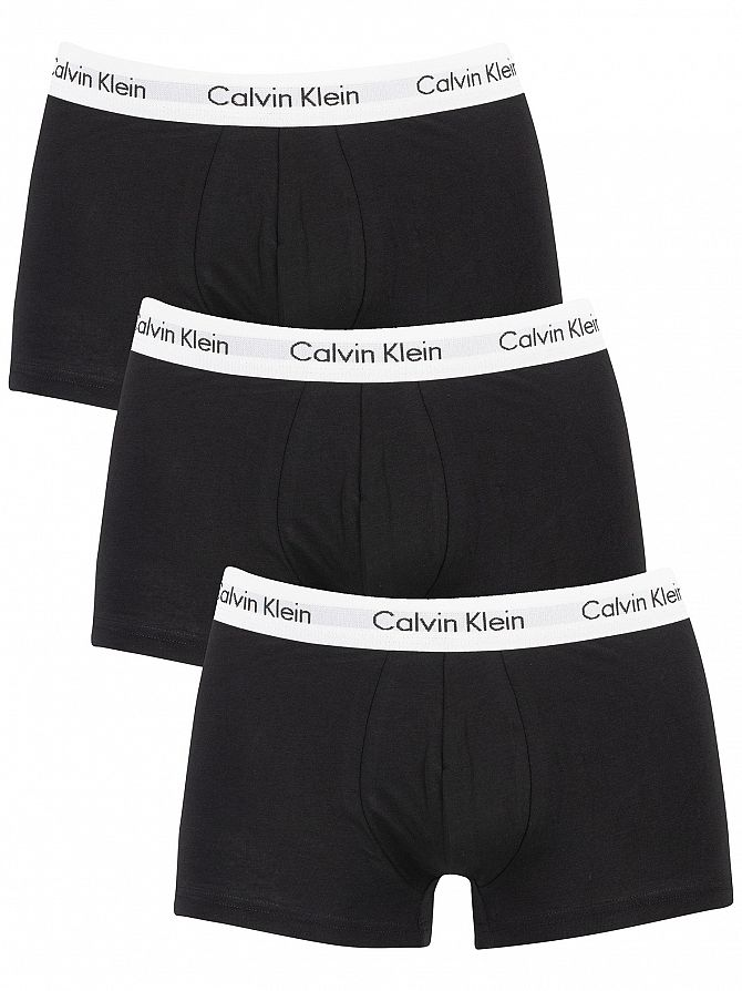 Calvin Klein Black 3 Pack Low Rise Trunks