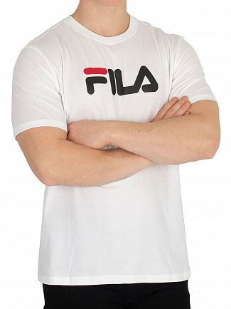 Fila Vintage White/Black/Chinese Red Logo T-Shirt