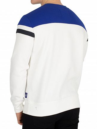 G-Star Milk/Hudson Blue Graphic 14 Core Straight Fit Sweatshirt