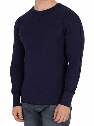 G-Star Sartho Blue Korpaz Longsleeved Slim Fit T-Shirt